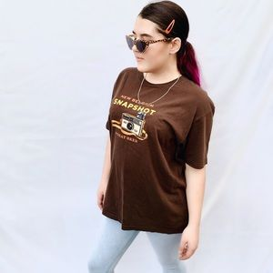 Vintage style, American Apparel graphic tee